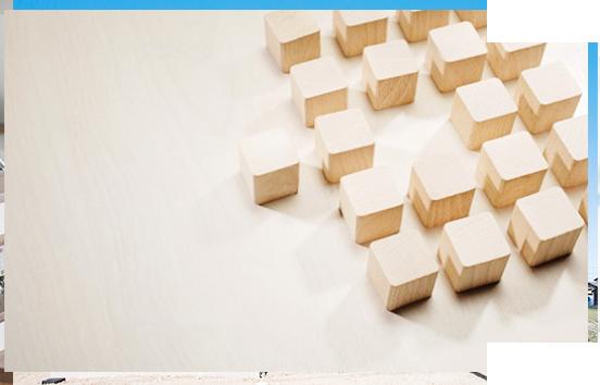 たくさんの四角い構造体